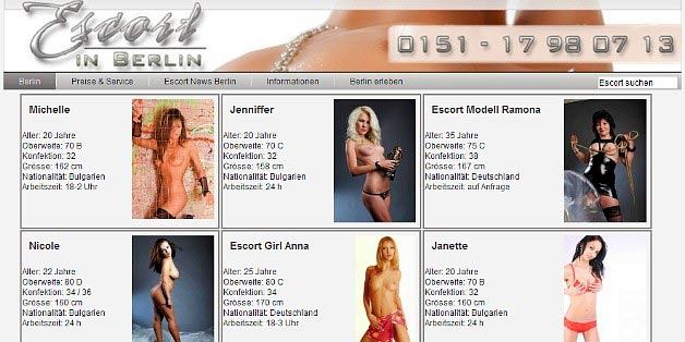 Escortservice Berlin: Escort Girls Agentur escortinberlin.de